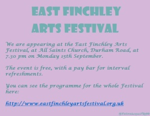 The East Finchley Writers at the East Finchley Arts Festival 2014.